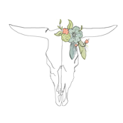 Cow with Flowers in Her Hair
