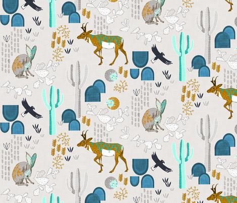 Sonoran Sunrise (custom 1) fabric by nouveau_bohemian on Spoonflower - custom fabric