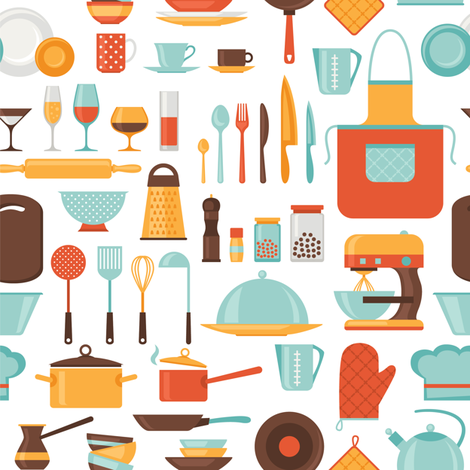 Chef's Delight fabric by pinkpineappledesign on Spoonflower - custom fabric