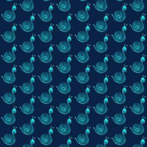 Snails Aqua Navy
