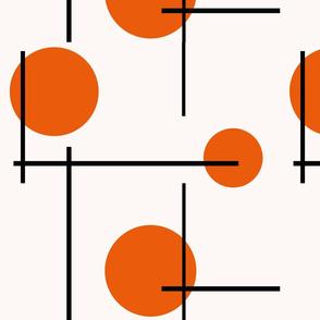 Retro orange dots