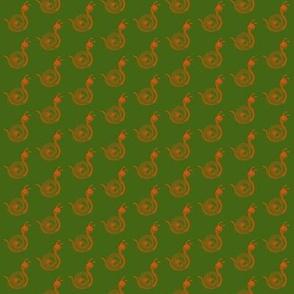 Snails Orange Green