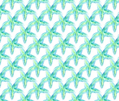 Small Starfish watercolor fabric by robinlb on Spoonflower - custom fabric