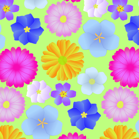 flower power cream fabric by artminx on Spoonflower - custom fabric
