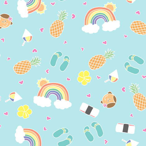 Hawaii favorites fabric by katfujihara on Spoonflower - custom fabric