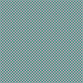 Tiny Squares and Diamonds  in 49996f Aventurine and e54396 Cactus Flower Pink
