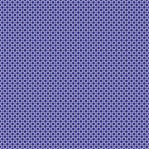 Tiny Squares and Diamonds  in Twilight Blue and Denim Lapis