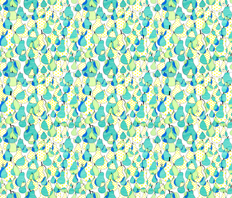 Pear fabric by call_me_chartreuse on Spoonflower - custom fabric