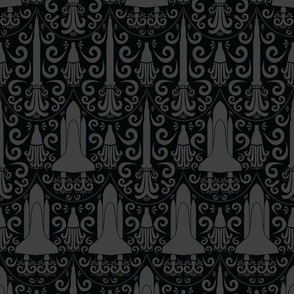Rocket Science Damask (Black)