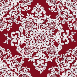 Baroque Lace in Burgundy