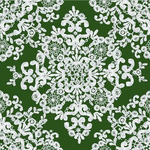 Baroque Lace in Olive
