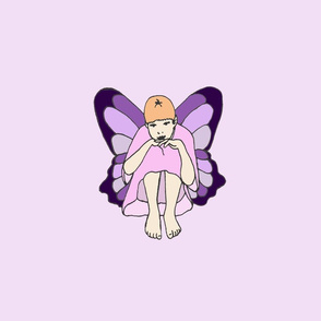 Large Lavender Pensive Fairy