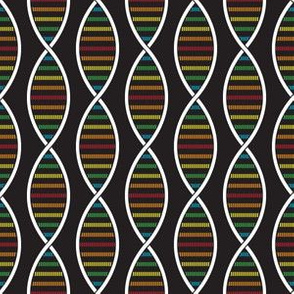 DNA Strands (Dark Rainbow)