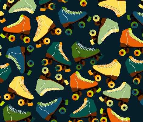 RetroSkate fabric by nuuk on Spoonflower - custom fabric