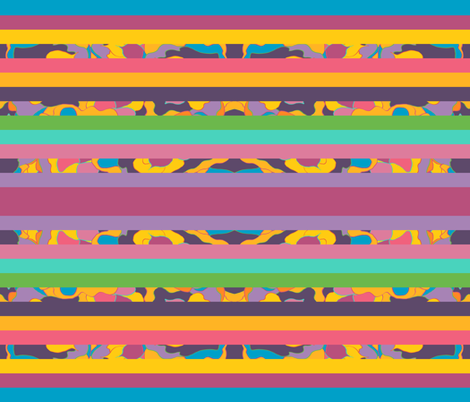 Carve of Land Horizontal Stripes fabric by anniedeb on Spoonflower - custom fabric