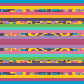 Carve of Land Horizontal Stripes