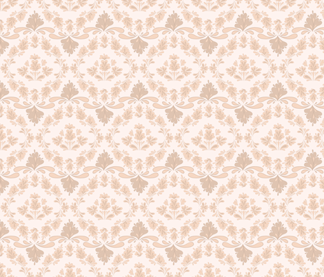 Pale leaves fabric by stewsha on Spoonflower - custom fabric