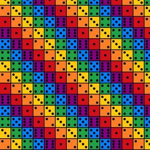 dice in a row bright
