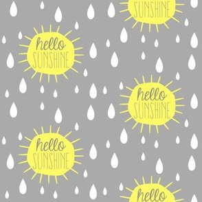 Hello Sunshine Rain Drops