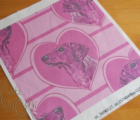 Dachshund heart portraits - pink