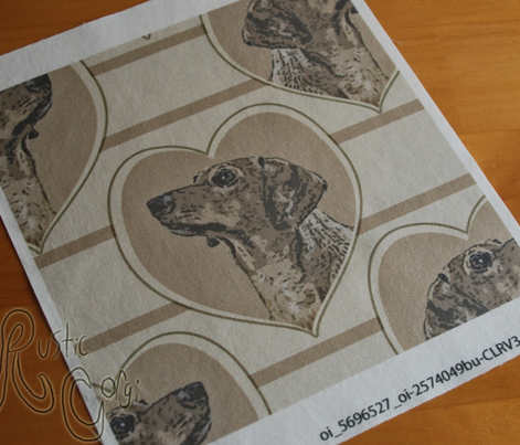 Dachshund heart portraits - brown