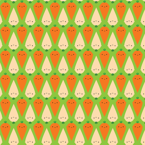Happy Carrots and Parsnips fabric by marcelinesmith on Spoonflower - custom fabric