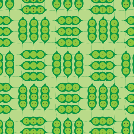 Happy Peapods fabric by marcelinesmith on Spoonflower - custom fabric