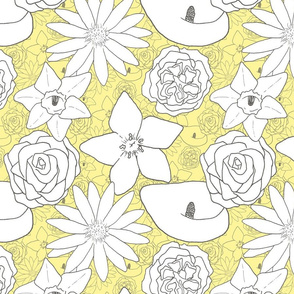 Flourishing Flowers - Yellow