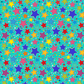 stars_with_turquoise_background