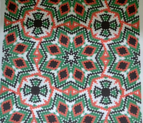 Christmas Bargello Kaleidoscope