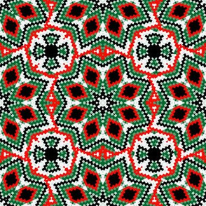 Christmas Bargello Kaleidoscope