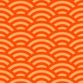 goldfish scales - light and dark orange