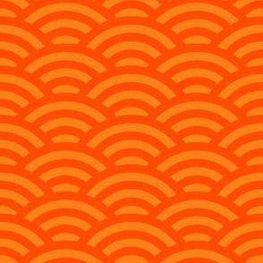 goldfish scales - bright orange