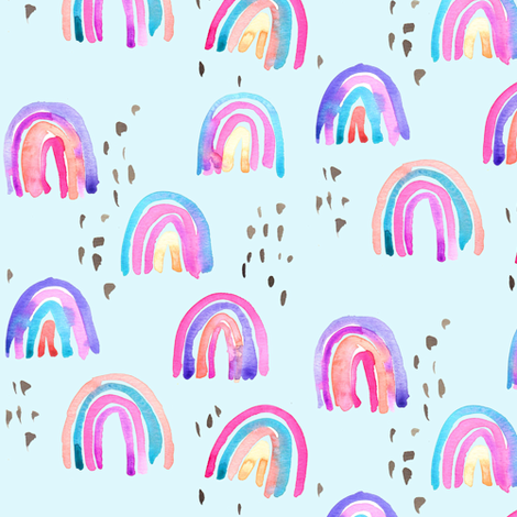 rainbows in the sky fabric by erinanne on Spoonflower - custom fabric