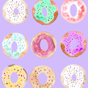 donuts multi on purple