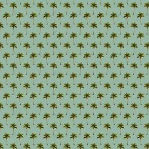 PALM TREE Retro Jungle Green MINI