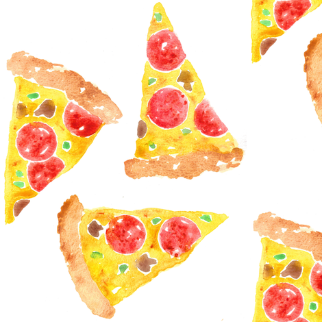 pizza fabric by erinanne on Spoonflower - custom fabric