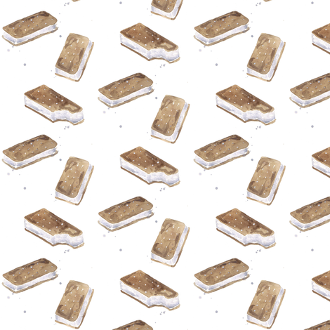 ice cream sandwiches mini fabric by erinanne on Spoonflower - custom fabric