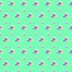 PALM TREE neon mint