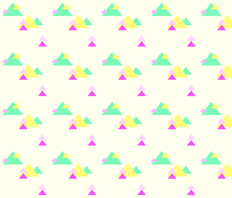 Neon Triangles II wallpaper - thistleandfox - Spoonflower
