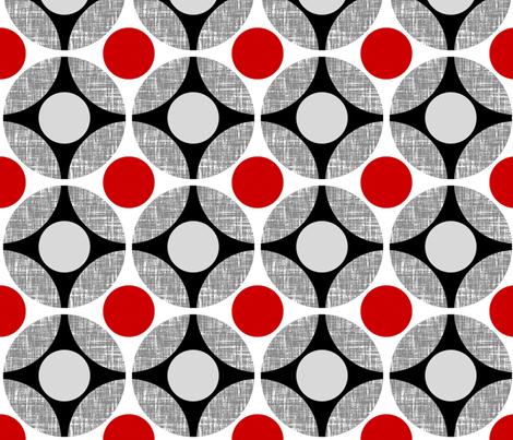 UK Mod Circular red + gray by Su_G fabric by su_g on Spoonflower - custom fabric