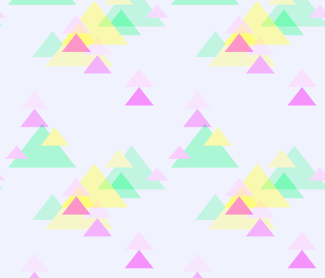 NeonTriangles_Overlay fabric by thistleandfox on Spoonflower - custom fabric