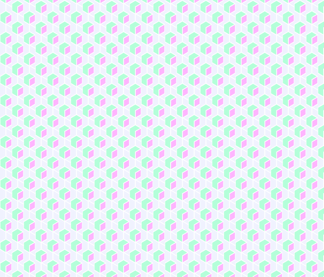 Geo_Blocks_Pale_Mint_Magenta fabric by thistleandfox on Spoonflower - custom fabric