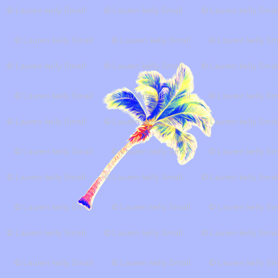 PALM_TREE__neon_periwinkle_diagonal_wide