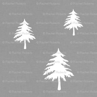 Trees on Grey Linen