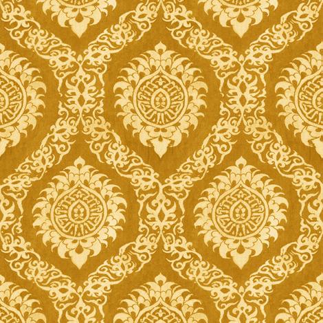 Ogee Gold fabric by wanderingaloud on Spoonflower - custom fabric