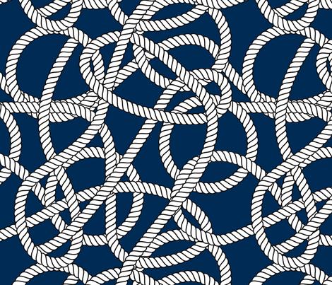 Nautical Navy Rope Pattern Repeat fabric by seasonofvictory on Spoonflower - custom fabric