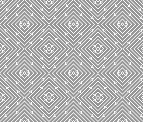 Grey Arrow Diamonds fabric by modfox on Spoonflower - custom fabric