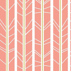 Blush Gold tree branch herringbone