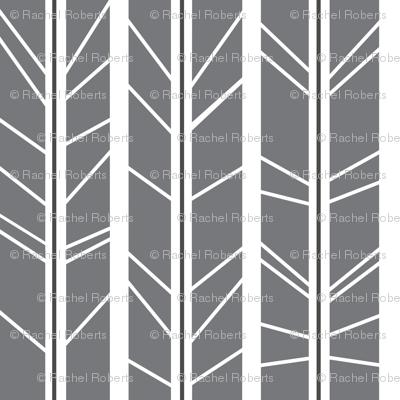 Grey Tree branch herringbone
